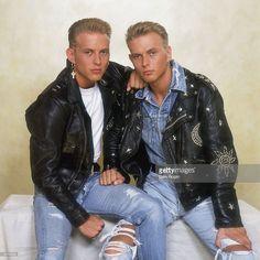 British pop duo Bros, consisting of twin brothers Matt and Luke Goss, circa…