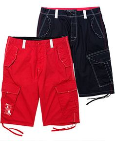 Sean John Shorts, Tech Cargo Shorts - Mens Young Men's - Macy's