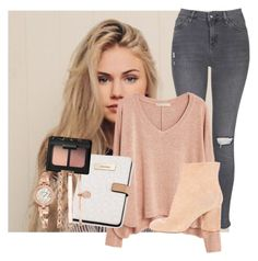 """""""OOTD~Scarlett"""" by faroutanons ❤ liked on Polyvore featuring Topshop, Agent Provocateur, MANGO, Maison Margiela, Calvin Klein, Anne Klein and NARS Cosmetics"""