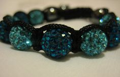 Peacock Blue and Vibrant Turquoise Crystal Pave by JadedJewelsUK, £10.00