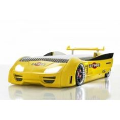 TURBO GT999 SuperCar Race Car Bed Yellow