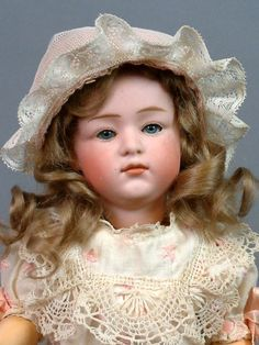 """12.5"""" Gebruder Heubach 6970 Pouty Character Child with Pink Bisque & from kathylibratysantiques on Ruby Lane"""