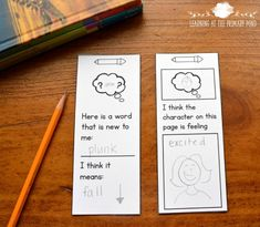 Write-on bookmarks are a simple way students can engage with text, specify the place they used a strategy or learned something new, and use images as a reminder of what they should be writing about. (Read the entire post for more ideas about making reading strategies stick with Kindergarten and first grade students)