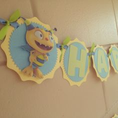 Henry Hugglemonster Birthday Banner by MemoriesBlossom on Etsy, $22.00