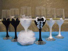 Etsy の wedding glasses by Ginartizanat