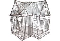 English wire birdcage  not sure if i'll ever want to own birds again, but if i do, this would be the kind of cage i'd go for
