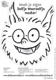 masker dolfje weerwolfje World Literature, Colouring Pages, Dory, Diy For Kids, Little Ones, Humor, Teaching, Fictional Characters, Google