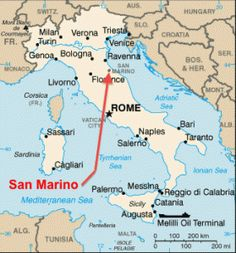 Map of San Marino San Marinos capital is the City of San Marino