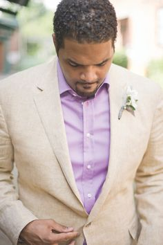 linen suit for the groom | Harwell Photography #wedding