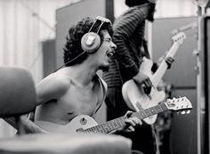 Carlos Santana Recording His First Album, 1968  By Jim Marshall
