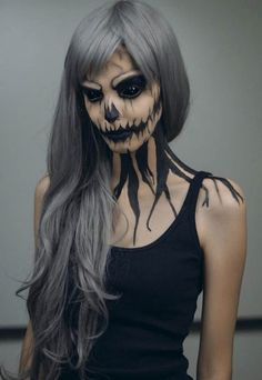 30 Scariest Halloween Makeup Ideas for Both Men & Women - Blogrope                                                                                                                                                     More