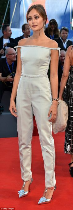 Doe-eyed beauty:Joining Gemma in flying the flag for the Brits was…