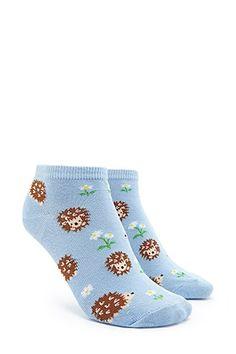 Porcupine Print Ankle Socks
