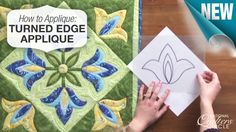 Learn all about turned edge applique. Start by tracing your design and then cutting out the individual pieces. http://www.nationalquilterscircle.com/video/how-to-applique-turned-edge-applique/?utm_source=pinterest&utm_medium=organic&utm_campaign=A219 #quilt #LetsQuilt
