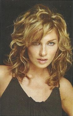 New Hairstyle 2014 Medium Curly Layered Hairstyles With Bangs Images