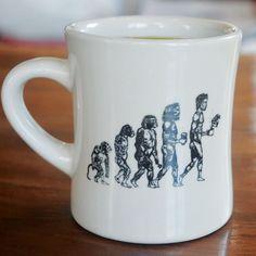 Evolution Diner Mug - Vigilante Coffee