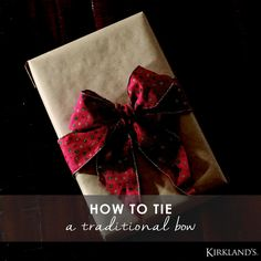 Learn how to tie the perfect traditional bow is 6 easy steps so that your gifts are always top-notch!