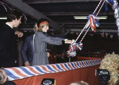 British Royalty Birkenhead England 21st December 1982 Cammell Laird Shipyard Prince Charles watches as Princess Diana launches a new ship called 'The...