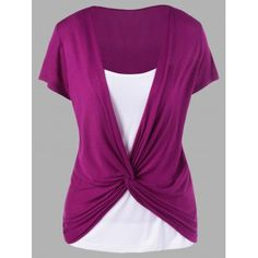 Colorblock Panel Twist T-Shirt - Purplish RedGreat reputation fashion retailer with large selection of womens & mens fashion clothes, swimwear, shoes, jewelry, accessories selling at a cheap price.Fashion Clothing Site with greatest number of Latest Fall Outfits, Summer Outfits, Casual Outfits, Cute Outfits, Fashion Outfits, Womens Fashion, Fashion Clothes, Clothing Sites, Kids Swimwear