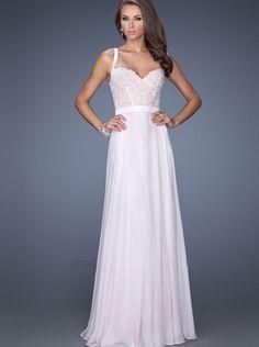 A-line Pink Chiffon Long Formal Dress/ Prom Dress Evening Dress La Femme 19932
