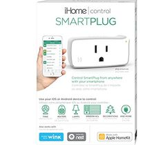 iHome iSP5 WiFI Smart Plug for Apple HomeKit with Siri, Nest, Wink and Amazon Echo