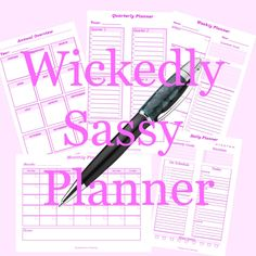 Wickedly Sassy Planner #planning #products #merchandise #productivity #writing Goals Planner, Weekly Planner, Priorities, Productivity, Sassy, Author, Etsy Shop, Writing, Products