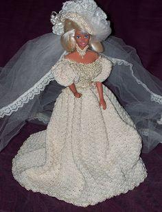 Vestido de noiva de crochê para Barbie | Crocheart