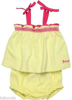 NWT Juicy Couture Baby Girls Terry Top & Diaper Cover Outfit Set / $27.50