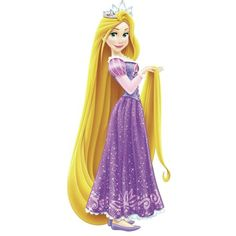 Disney Princess Rapunzel Giant Wall Decals with Glitter