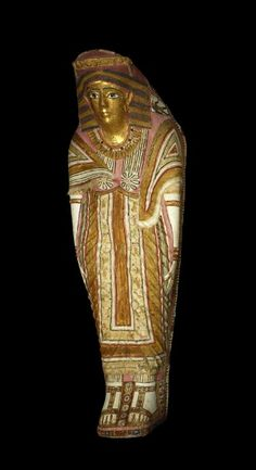 Base and lid of a polychrome painted cartonnage mummy-case. century B. - century A. Ancient Art, Ancient Egypt, Ancient History, 1st Century, Egyptian Art, British Museum, Deities, Roman, Period