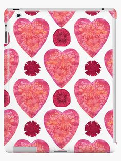 'Hearts and Flowers for Valentine's Day' iPad Case/Skin by Andreea Dumez Flowers For Valentines Day, Valentine Day Gifts, Lip Designs, Cute Designs, Red Color Meaning, Gifts For An Artist, Husband Wife, Engagement Gifts, Joyful