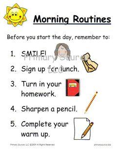 Discipline Procedures for Middle School | In establishing procedures or routines, it is important to: