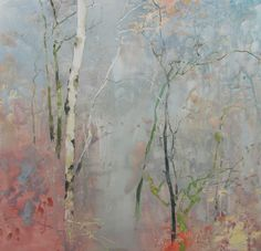 November Rain watercolor on Yupo 20x20 Randall David Tipton http://randalldavidtipton.blogspot.com/2013/11/november-rain.html