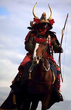 Samurai on horseback ready for a battle!!!