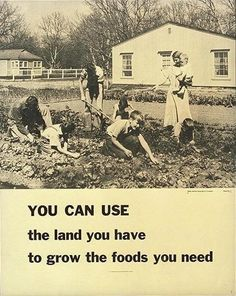 Vintage picture: Grow the foods you need.