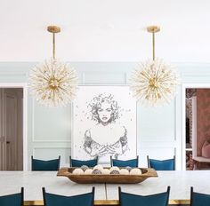 Beverly Hills Houses Dining Rooms Room Table Light Fixtures