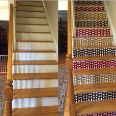 Before Crowbabys, After Crowbabys Arts And Crafts, Mission Style Vinyl  Stair Riser Decals