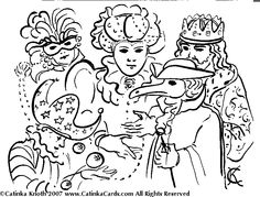 mardi gras coloring pages by catinka knoth