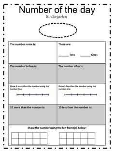 Free Number of the Day Activity Sheet!!