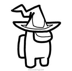 Among Us Coloring Pages Wizard Coloring Pages Free Coloring Pages Halloween Coloring Pages