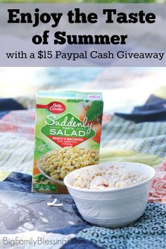 Enjoy the taste of summer with Suddenly Salad, and easy picnic ideas. Plus enter to win $15 Paypal Cash Giveaway!