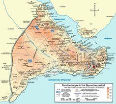 Constantinople in the Byzantine period   Mavi Boncuk