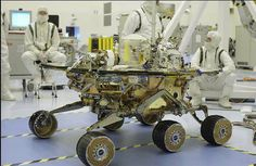 Fig. 4. Flight rover Spirit of Mars Exploration Rover missions (Image Courtesy: NASA/JPL/Caltech) Enabling motion with wheels are not only limited to JPL rover applications. Studies from other space agencies such as ESA, JAXA also propose wheels (Roe et al., 2008; Kubota et al., 2005). This was evident during the early project phases of ExoMars and SELENE-II missions. However, unlike the rocker-bogie, these rovers differ in their system configuration. ExoMars employs longitudinal and…