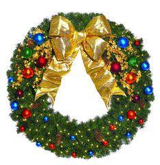 Jewel Tone Commercial Wreath