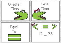 Comparing Numbers  Alligator Center and Worksheet Pack
