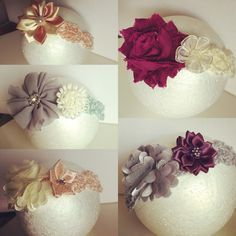 Flower baby headbands