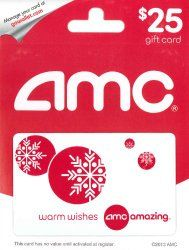 AMC Theatre Gift Card - Top Christmas Gifts for Guys
