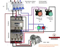 Motor starter wiring diagram plc and automation pinterest electrical diagrams control three phase motor starter with start stop cheapraybanclubmaster Choice Image