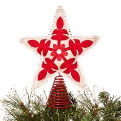 Debenhams Red felt star Christmas tree topper- at Debenhams.com