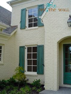 My Faux Side – The Details For Your Home#love the turquoise shutters & front door.